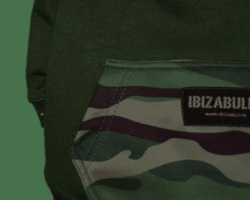 ibizabully hoodie groen detail