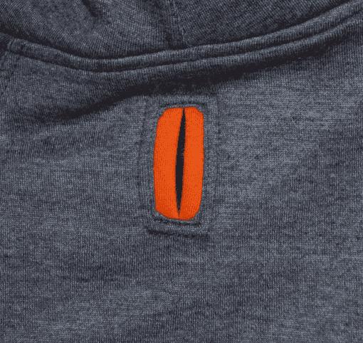 ibizabully hoodie orange hole