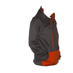 ibizabully hoodie oranje zijkant
