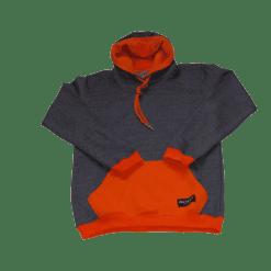 ibizabully hoodie oranje voorzijde