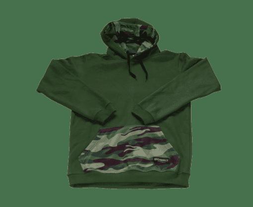 ibizabully hoodie groen voorzijde