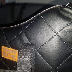 Autostoel zwart detail